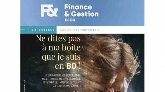 Burn-out, article magazine Finance & Gestion